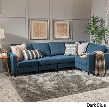 Amazon.com: Christopher Knight Startseite Zahra Fabric Sectional Couch.