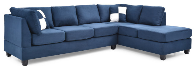 Solana Micro Suede Sectional - Transitional - Schnittsofas - von.