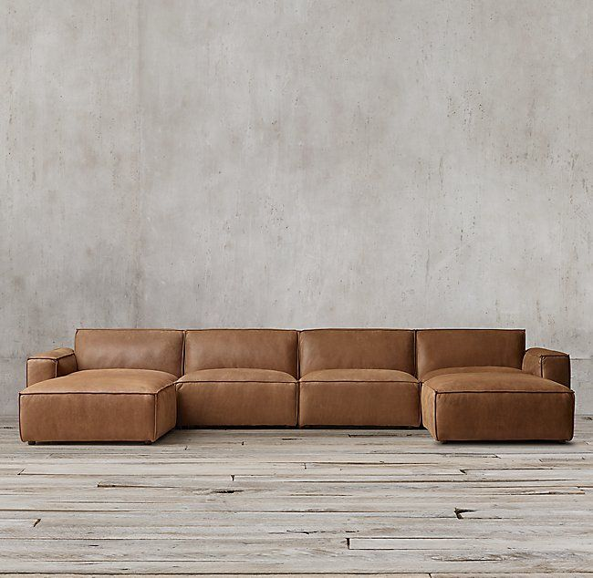 Como Modular Leather Customizable Sectional |  Ledersofas.