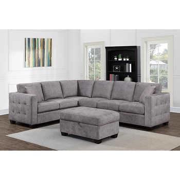 Kylie Fabric Sectional mit Ottom