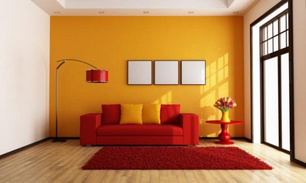 Orange Farbe Innenarchitektur-Ideen